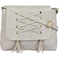 RITUPAL COLLECTION - Identify Your Look, Define Your Style Grey PU Shoulder Sling Handbag for Women
