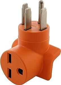 AC WORKS [AD1450630] Range/RV/Generator 14-50P Plug to 6-30R 30 Amp 250 Volt HVAC Connection Adapter