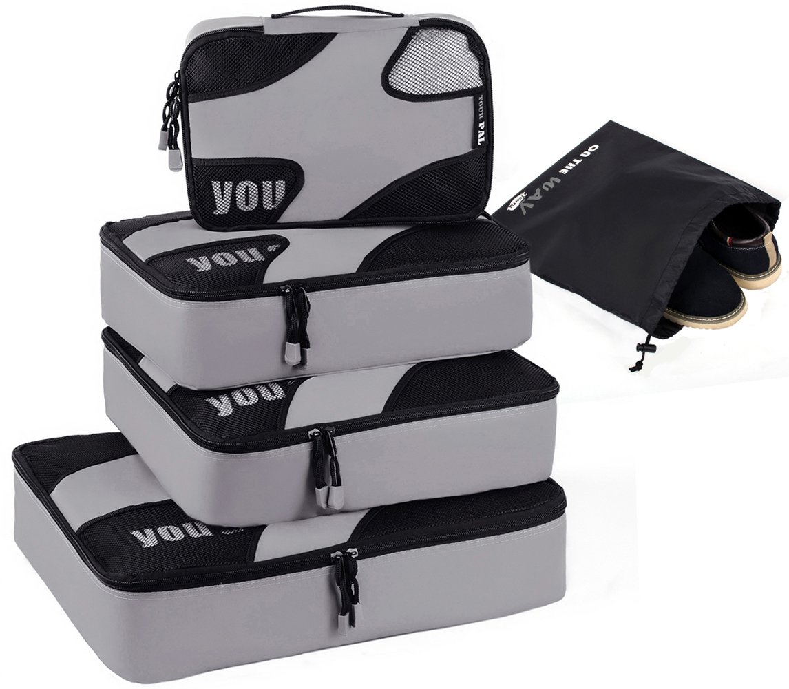 Trumy 5 set Lightweight Packing Cubes (Gray)