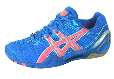 Asics - Womens Handball Gel-Blast 4 Shoes In Blu/Orng/Slvr,