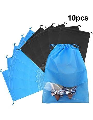 f83165cc677be 10 Pcs 44 x 32cm Travel Shoes Bag, Portable Shoe Organizer Pouch Drawstring  Non-