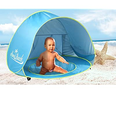 Monobeach Baby Beach Tent Pop Up Portable Shade Pool UV Protection Sun Shelter for Infant: Toys & Games