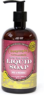 product image for {Soaptopia} - Luxury Foaming Liquid Soap Made with Organic, All Natural Ingredients for Face, Body, and Hands - Scented with Rose Geranium & Patchouli to Soothe & Deep Clean - Suds & Roses (12 oz)