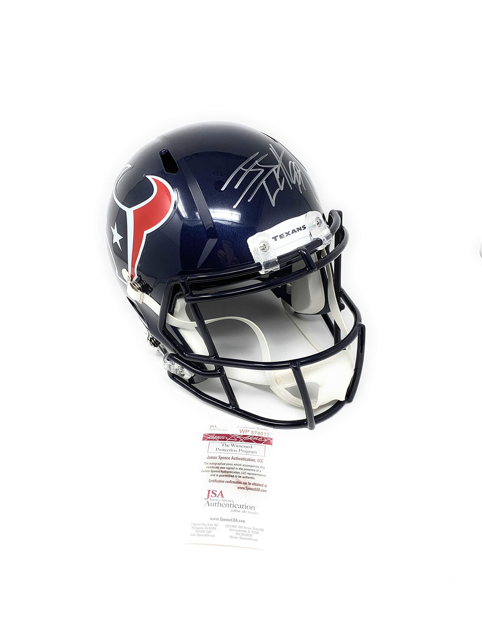 JJ Watt Houston Texans Signed Autograph Full Size Speed Helmet Watt Hologram JSA Witnessed Certified