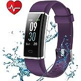 CHEREEKI Pulsera Actividad, Fitness Tracker Frecuencia Cardíaca Monitor, IP68 Impermeable Pantalla Color, Monitor de Sueño, 14 Modos de Deporte, Bluetooth Pulsera Inteligente