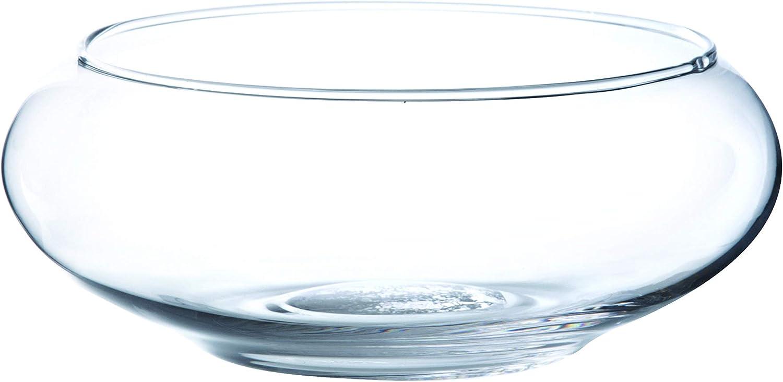 Centre de table // coupe ronde VERA transparent /Ø 25 cm Coupelle d/écorative en verre // Coupe /à fruits INNA Glas 8 cm