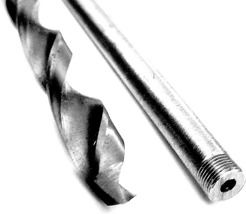 1//2 x 18 Pierce Bell Hanger Installer Wood Bit with a Patented Round Threaded Shank 2 Hollow Tip