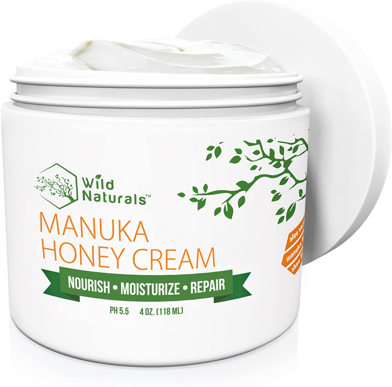 Manuka Honey Healing Eczema Cream : Aloe Vera + Shea Butter + Coconut Oil + Hemp Seed Oil Anti Itch Natural Moisturizer Face and Body Lotion for Dry Skin Dermatitis Psoriasis Rosacea Sunburn Relief