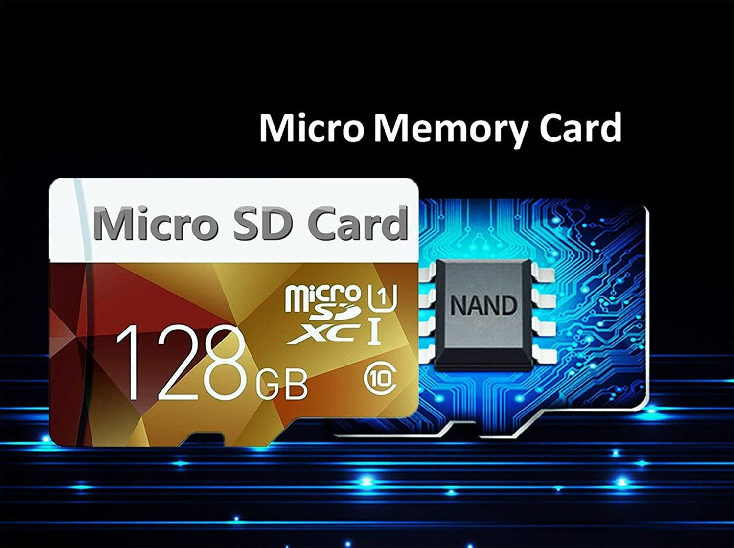 128GB Micro SD SDXC Memory Card High Speed Class 10 with Micro SD Adapter