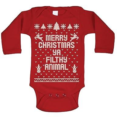 964903c77f94 Amazon.com  Merry Christmas Ya Filthy Animal Ugly Christmas Sweater ...