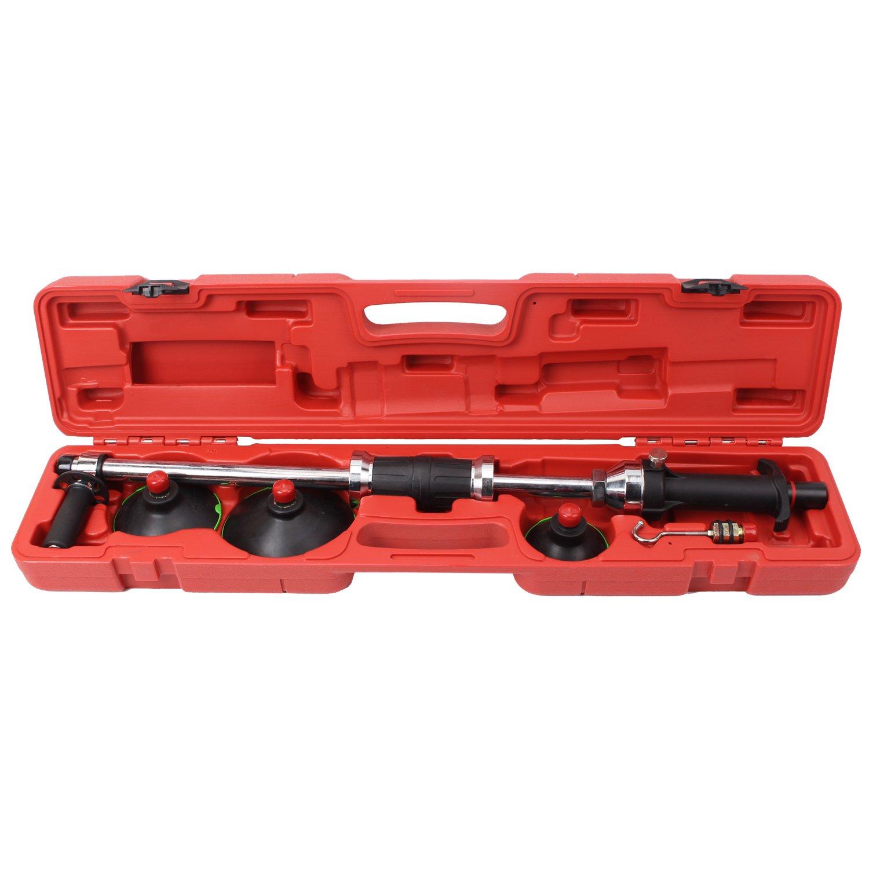 Druckluft Vacuum Ausbeulwerkzeug Dellen Reparatur Set mit Gleithammer Dellenlifter KFZ Dellenentfernung CCLIFE