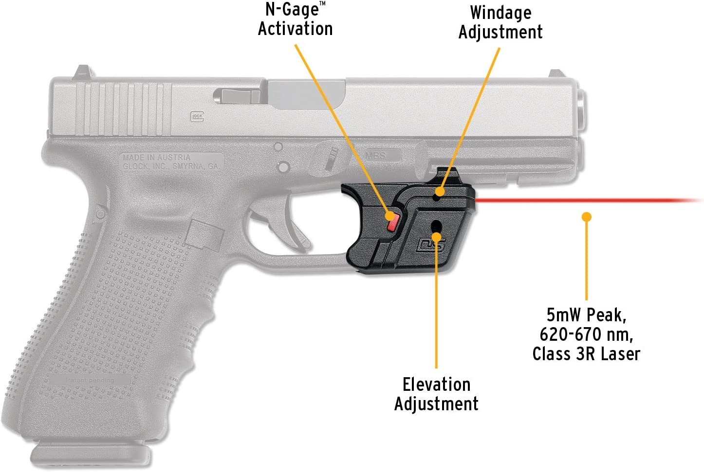 Universal Compact Red Laser Sight With Trigger Guard Mount for Pistol Rifle