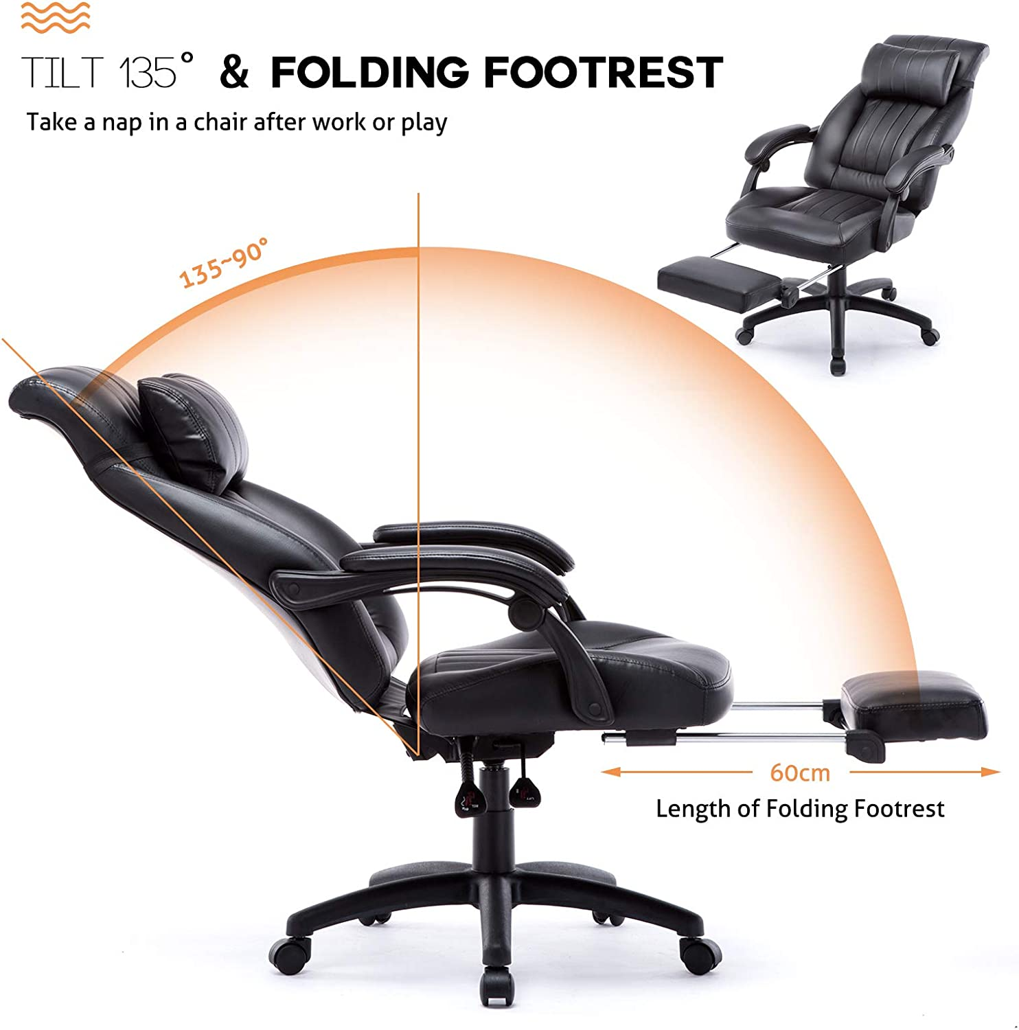Top 5 Executive Office Chairs With Reclining Function And Retractable Footrest For Home Office Thecareercafe Co Uk