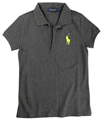 Ralph Lauren Volley Camisa de Polo T.M, Big Polo Flequillo, Gris ...