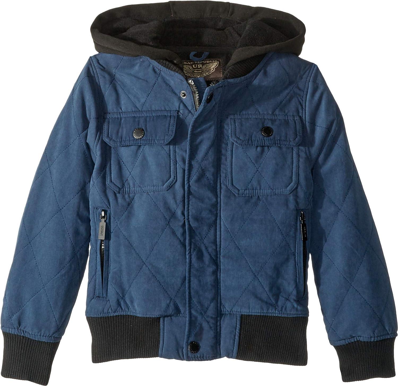 6b717dd6 Amazon.com: Urban Republic Kids Mens Augustine Quilted Microfiber Bomber  Jacket w/Hoodie (Little Kids/Big Kids): Clothing