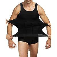 Shaxea Bodywear Mens Slimming Body Shaper Gynecomastia Vest Shirt Tank Top Compression Shirt, Shapewear Men