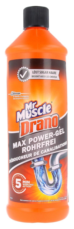 Drano Power Gel - Gel para desatascar tuberías, 2 unidades (2 x 1000 ml): Amazon.es: Salud y cuidado personal