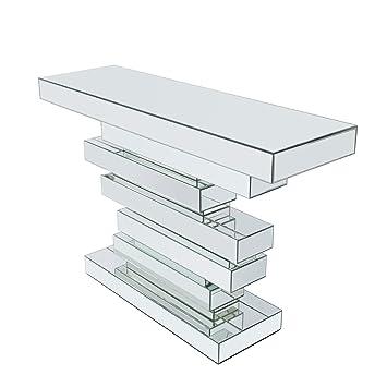 Verspiegelte Design Konsole Modern Brick 120 Cm Sideboard