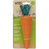 Living World 61307 Nibblers Corn Husk Pet Chew, Carrot,Orange