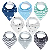 Amazon Price History for:Baby Bandana Drool Bibs, Unisex 8-Pack Gift Set for Drooling and Teething, 100% Organic Cotton, Soft and Absorbent, Hypoallergenic - for Boys and Girls by KiddyStar