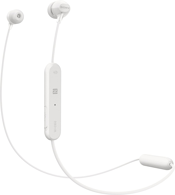 Sony WI-C300W - Auriculares Inalámbricos (Bluetooth, NFC, Manos Libres), Color Blanco, Talla Única