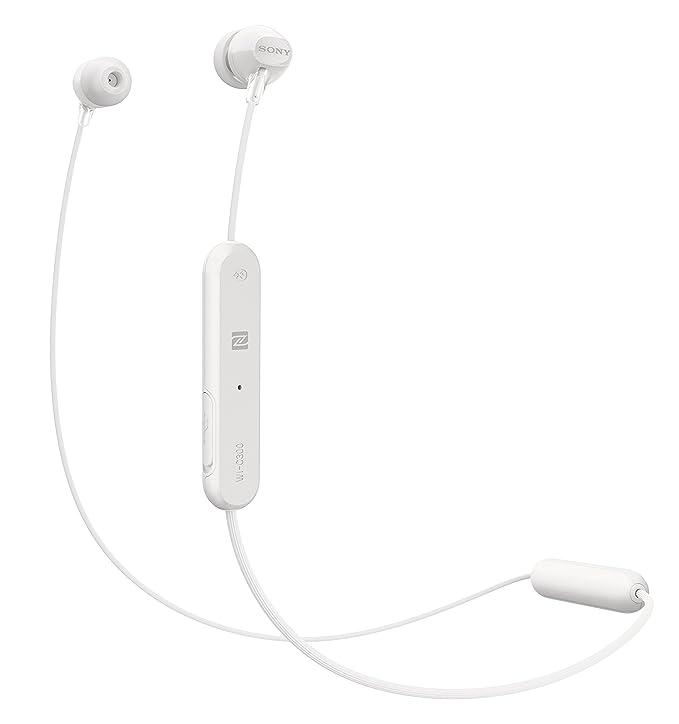 46d22e6a106 Amazon.com: Sony WI-C300 Wireless In-Ear Headphones, White (WIC300/W):  Electronics