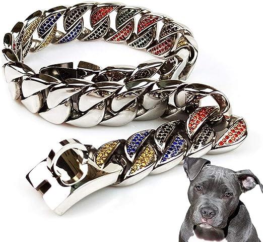 UTOPIAY Collar de Cadena para Perros de 32 mm, Collar con ...