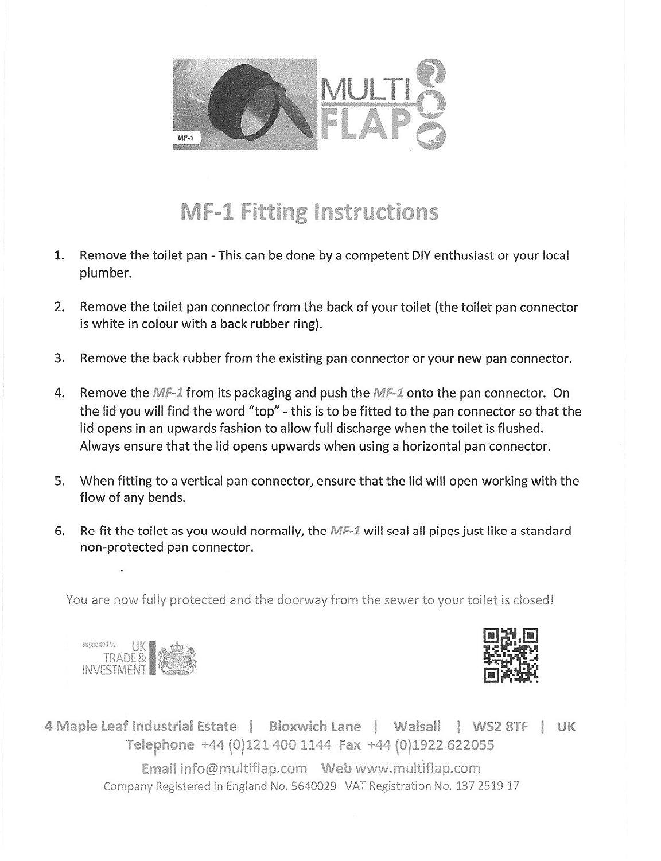 multiflap ARB1/MF1/anti cross-flow y roedores V/álvula de barrera para inodoro de salida