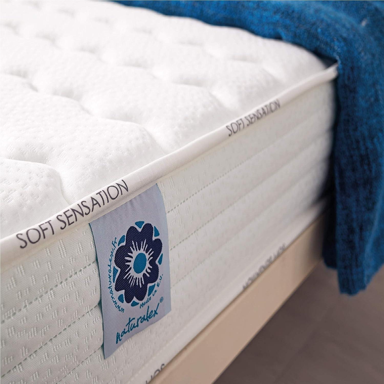 Naturalex | Soft Sensation | Colchón 160x190 Cm Viscoelástico | Suave Capa AeroLátex | Sistema AirFresh | Acogedora Tumbada con Lechos Independientes | Reversible Verano Invierno | Hipoalergénico