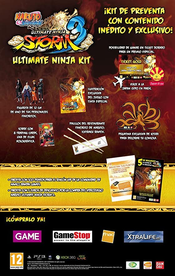 Naruto Ultimate Ninja Kit (Ps3) [Importación Francesa ...