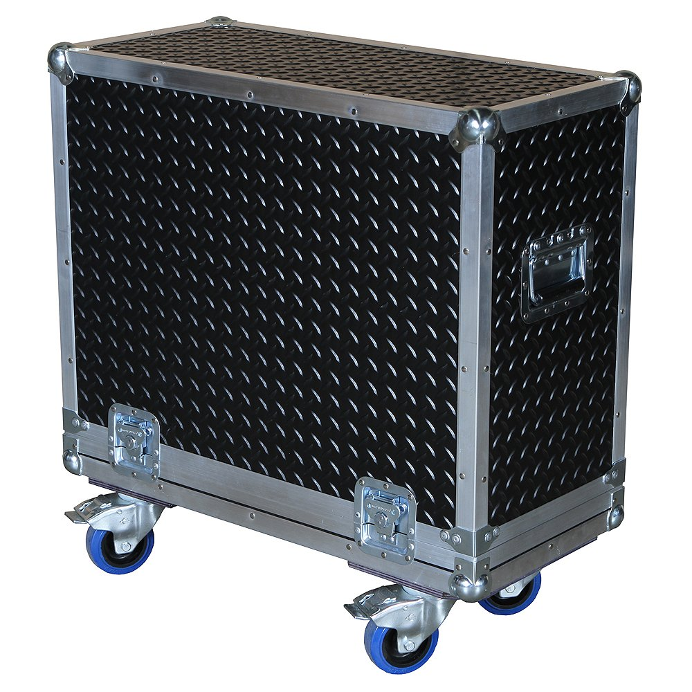 Amplifier 3/8 Ply ATA Case with Diamond Plate Rubberized Hard Laminate Fits Behringer Ultracoustic Acx1800