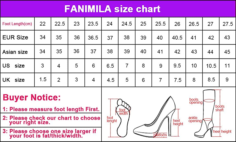 FANIMILA Women High US Heel Sandals Shoes 6 US High = 23.5 CM|Black B07BBLFKYZ 8d1a58