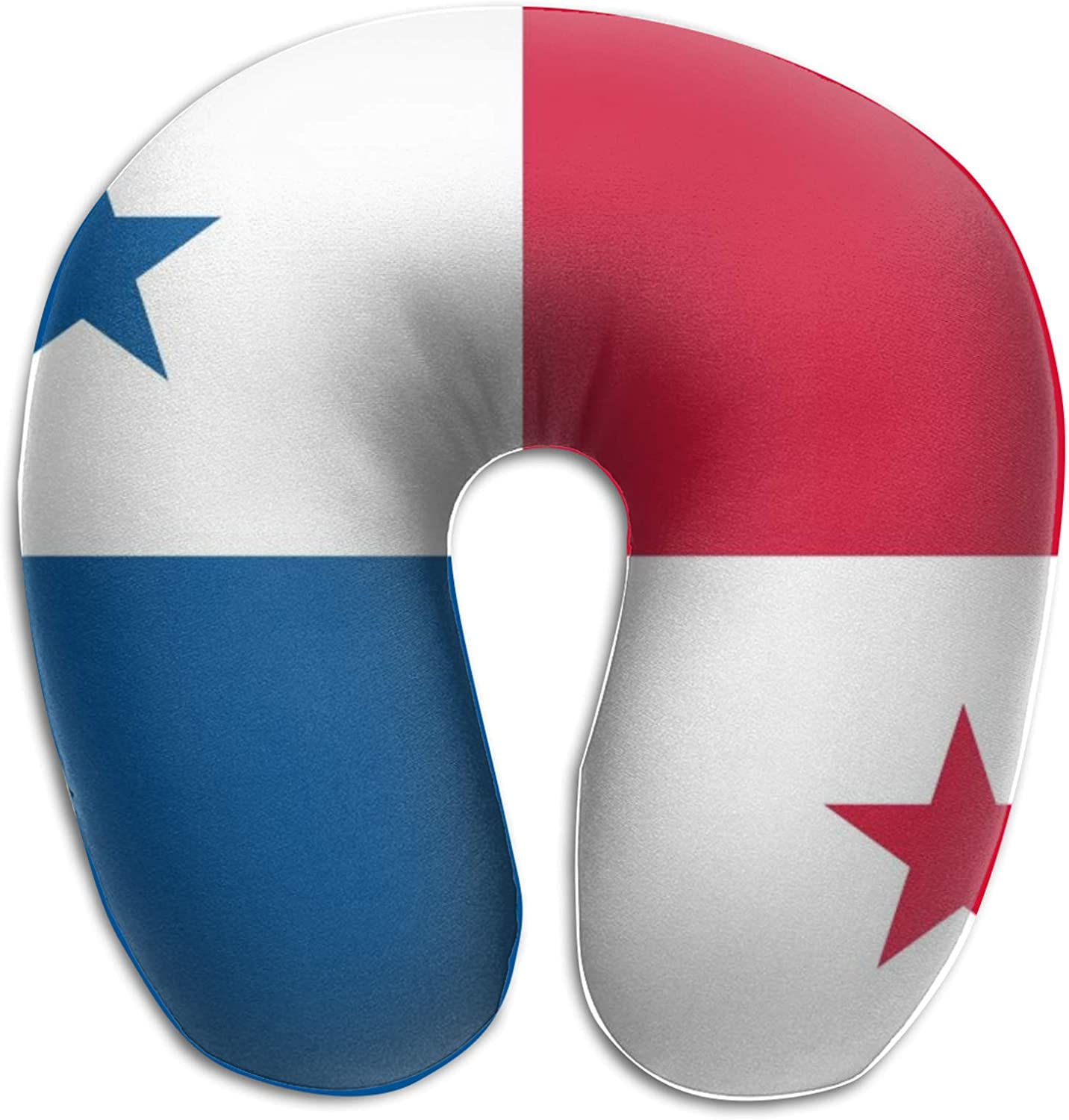 Upgrade U Shaped Memory Foam Pillow,Flag of Panama Neck Head Cushion Pillow Support Rest Outdoors Car Office Home Travel Pillow Cushion