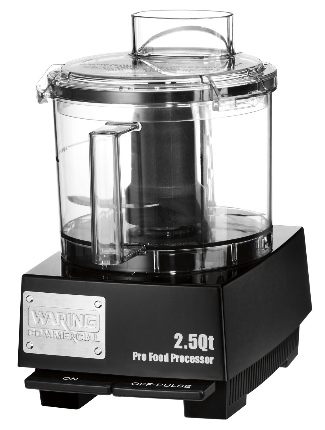 Waring Commercial WFP11SW Sealed Space-Saving Batch Bowl Food Processor with LiquiLock Seal System, 2-1/2-Quart