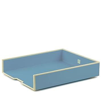 Stiftek/öcher mit 4 Unterteilungen ciel   Stiftehalter//Stiftablage  Schreibtisch-K/öcher im Format 9 x 9 x 9 cm 352848 Semikolon hell-blau
