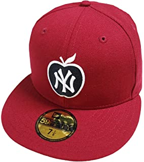 finest selection c80e1 5c257 New Era New York Yankees Big Apple Cardinal Red MLB Cap 59fifty 5950 Fitted  Basecap Kappe Men Special…