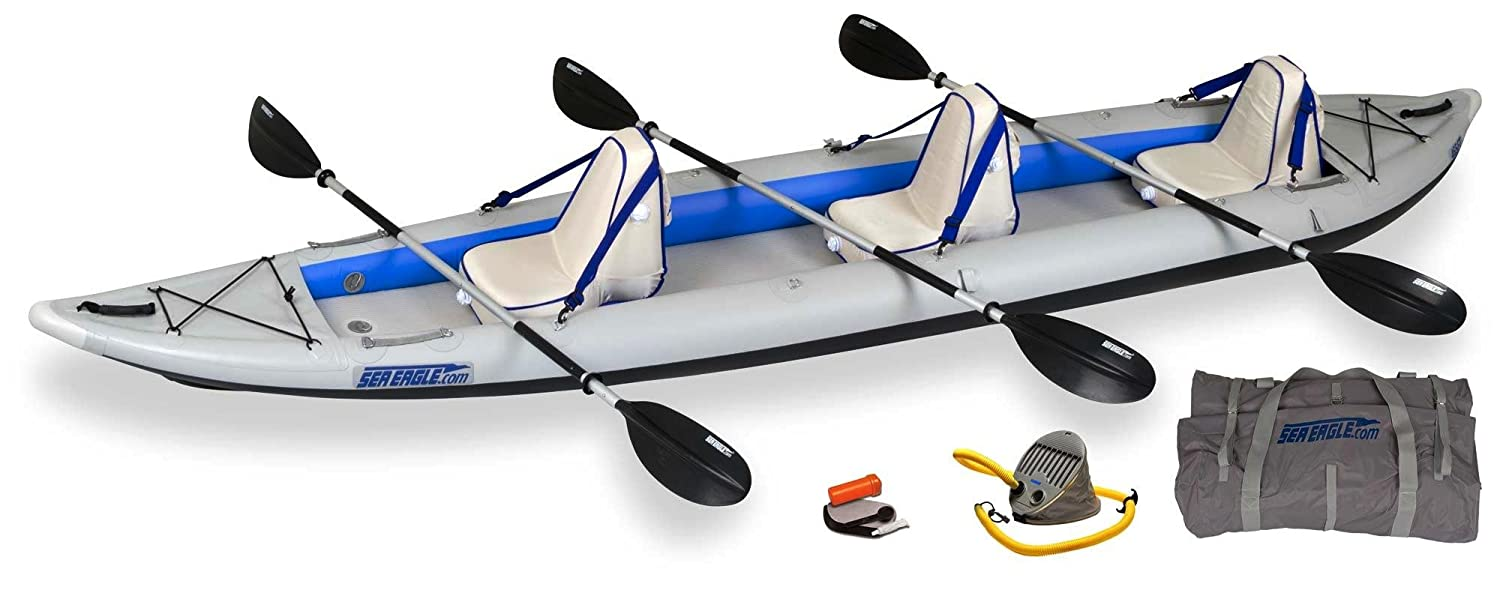 Sea Eagle FastTrack 465-Feet Inflatable Kayak Deluxe Package by Sea Eagle   B005QUD7IG