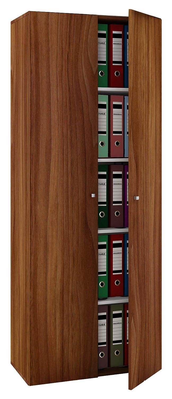 VCM Schrank Universal Kleiderschrank Mehrzweckschrank Dielenschrank Flur 70 Möbel kern-nussbaum 178 x 70 Flur x 40 cm