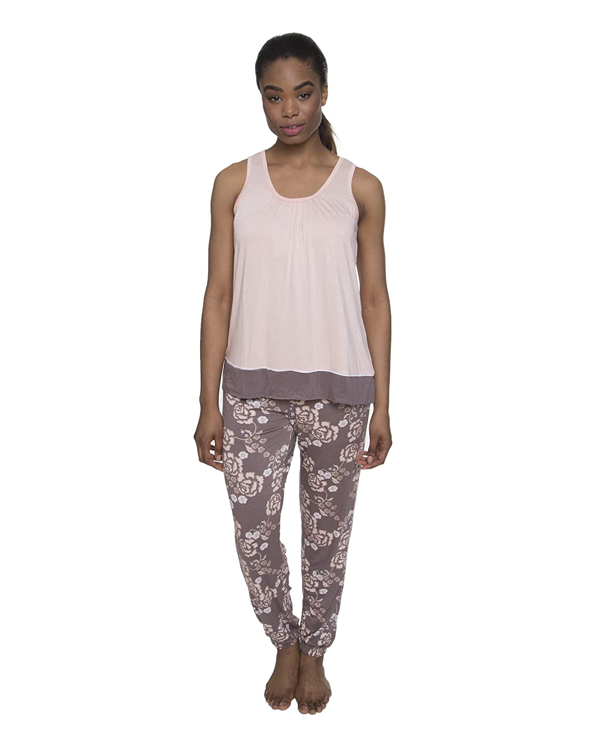 29dbe856 2 PIECE SET: Perfect for sleeping or lounging, this fashionable 2 piece set  comes with a lightweight and soft shirt and matching pants for a  coordinated ...