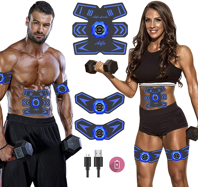 Abdominal Toning Trainer Workout Muskel ABS Stimulator Toner Fitness Gürtel USB