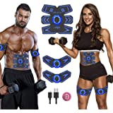 SPORTCDIA Abs Stimulator Ab Stimulator Rechargeable Ultimate Abs Stimulator for Men Women Abdominal Work Out Abs Power Fitnes
