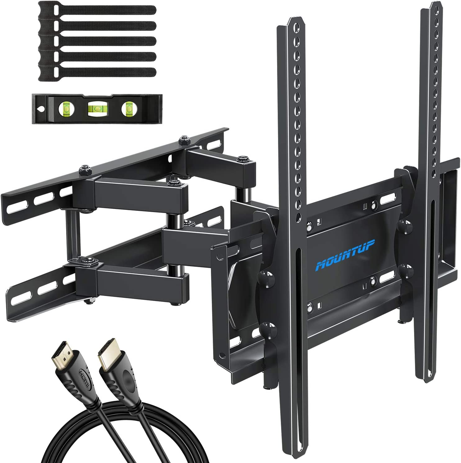 Mountup Tv Wall Mounts Full Motion Tv Wall Mount For 26 55 Inch Flat Screens And Curved Tvs Up To 88 Lbs Wall Mount Tv Bracket With Dual Swivel Articulating Arms