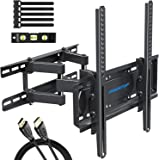 MOUNTUP TV Wall Mounts - Full Motion TV Wall Mount for 26-55 Inch Flat Screens and Curved TVs up to 88 LBS, Wall Mount TV Bra