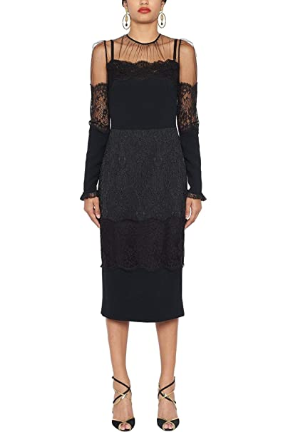 Dolce E Gabbana Vestito Donna F6C4XTGDL46N0000 Cotone Nero  Amazon.it   Abbigliamento 107eddc3ecc