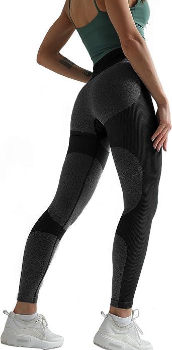 Women Yoga Pants Seamless High Waist Push Up Leggings Tummy Control Workout O1