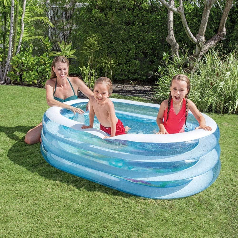 XiaoDong1 Piscina de remo de verano ovalada para niños, piscina inflable al aire libre, 163 x 107 x 46 cm, fácil de instalar: Amazon.es: Hogar
