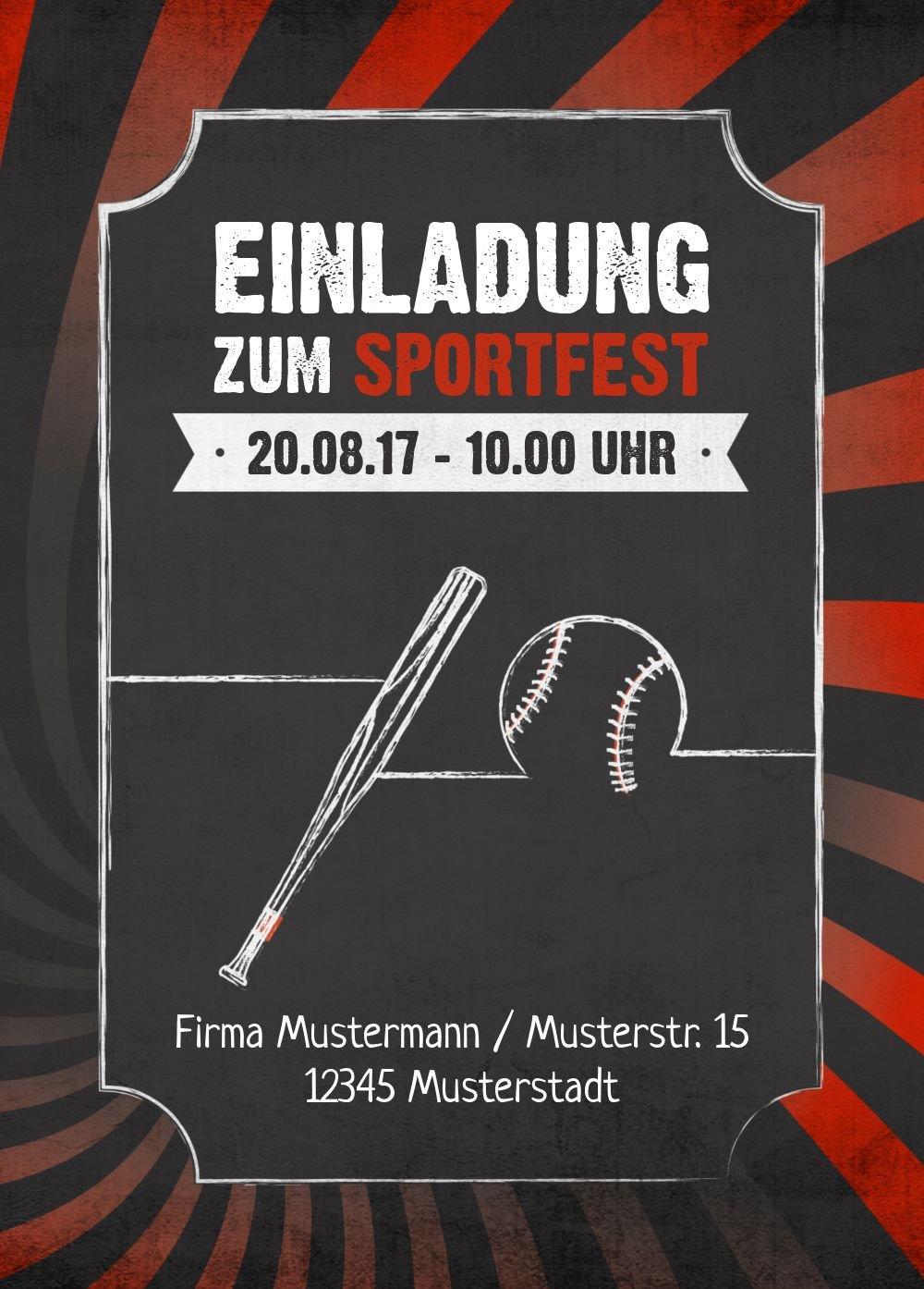 Einladung Sommerfest Retro Sport, 60 Karten, Rot B073W88FRD B073W88FRD B073W88FRD | Starker Wert  | Qualität zuerst  | Sale Online  fe721f