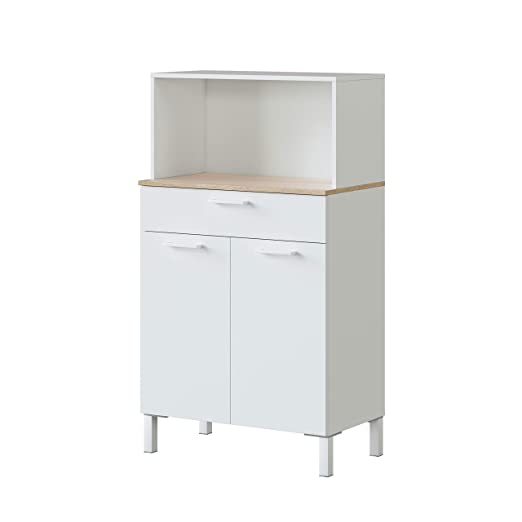 Habitdesign 0F9920A - Alacena de Cocina, Aparador, Mueble Auxiliar ...