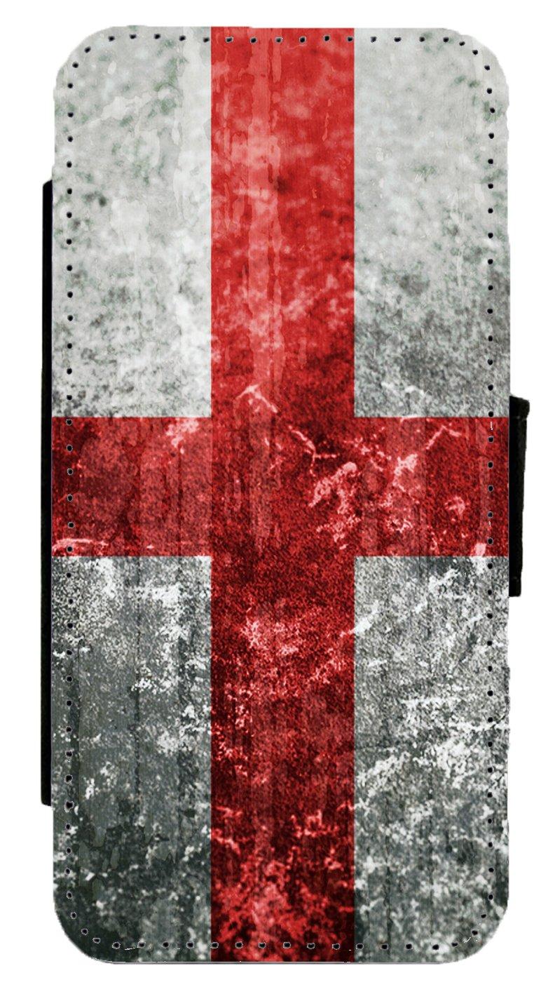 Bandera de Inglaterra inglés Grunge Cubierta de Cuero Flip Phone Case: Amazon.es: Electrónica