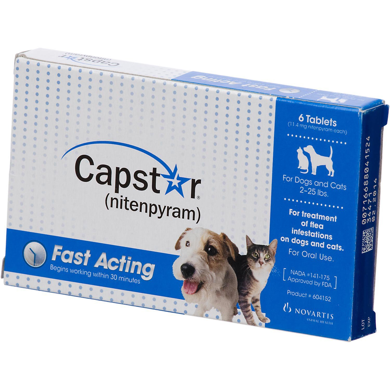 Capstar Flea Tablets for Dogs and Cats, 2-25 lbs. by capstar